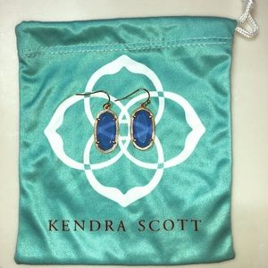 Kendra Scott Small Drop Earrings Blue